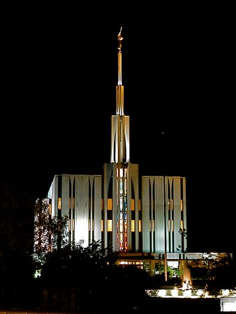 Seattle Temple at Night