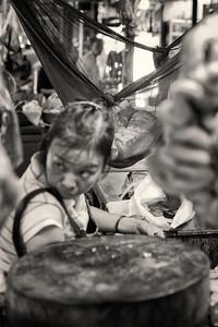 "Monochrome52   Week#38   ""Nap Time""     Street Market, Siem Reap, Cambodia"