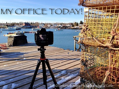 """My Office Today""         7 AM,  8 degrees Above Zero Corea Harbor, Down East Maine ... Ayah, that's exactly wayuh I'm working' today ;-)  2013 © Performing Images Photography by Pat Corlin All Rights Reserved  www.PatCorlinPhotography.com"