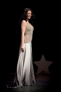 Miss New Hampshire, Krystal Muccioli wearing her Miss America evening wear selection.