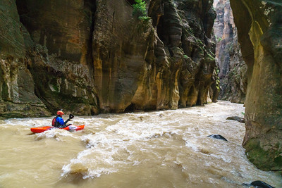 Wally Macfarlane in the Zion Narrows.