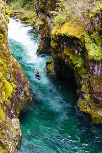 """Christian Woodard floats through one of the most beautiful hallways I've ever seen on the colloquially called """"Opal Creek"""" -- a section of the Little North Santiam in Oregon."""