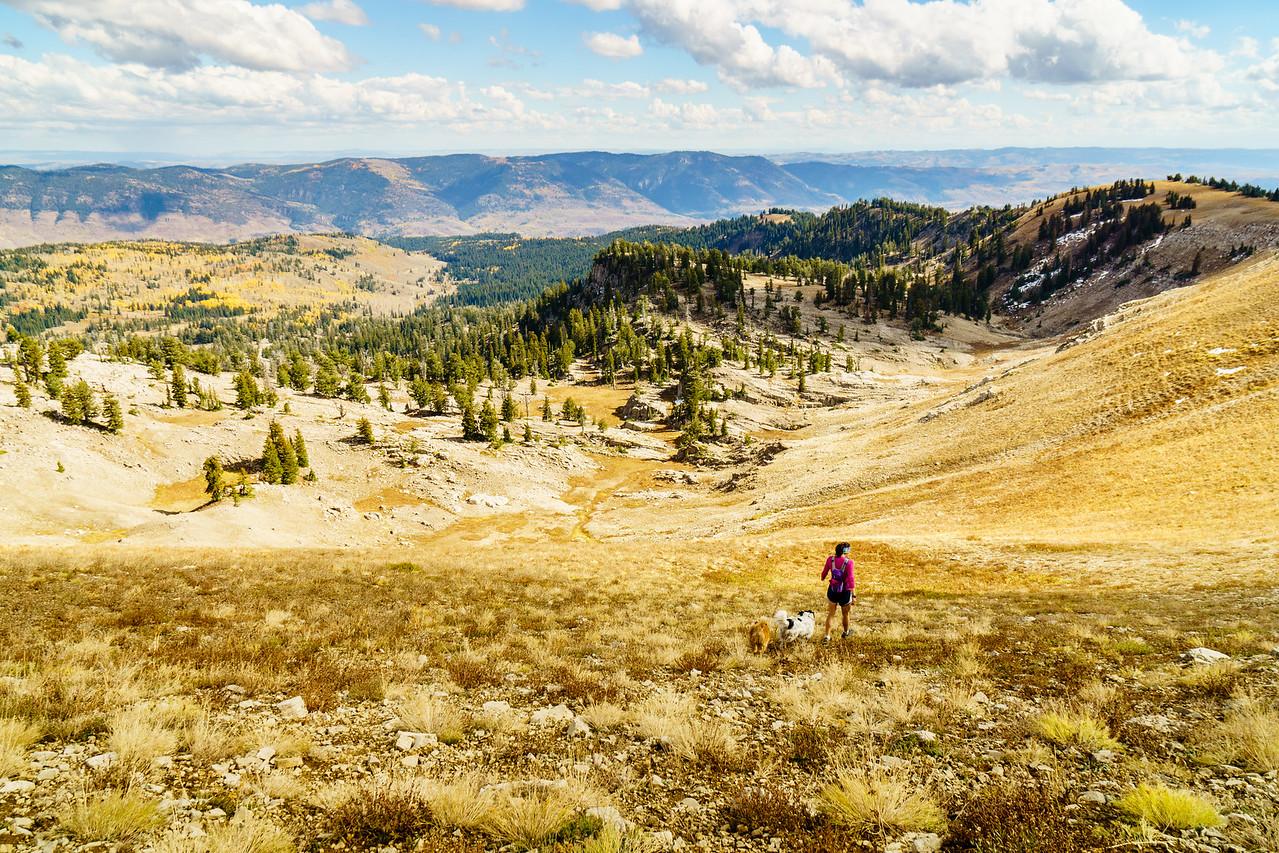 Hiking in the Bear River Range, Logan Canyon, Utah.