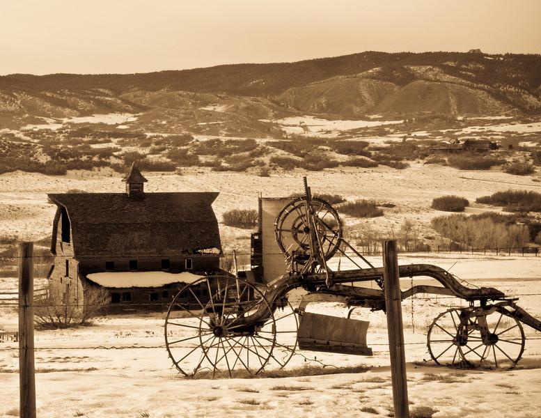 Colorado farmlands in early winter.