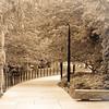 Walkway through the Theodore Roosevelt Memorial, Washington, DC.