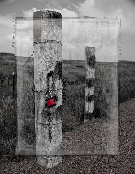 Gate post near Parker, Colorado