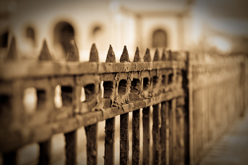 Church fence in Lake Charles, Louisiana.