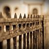 Church fence in Lake Charles, Louisiana.