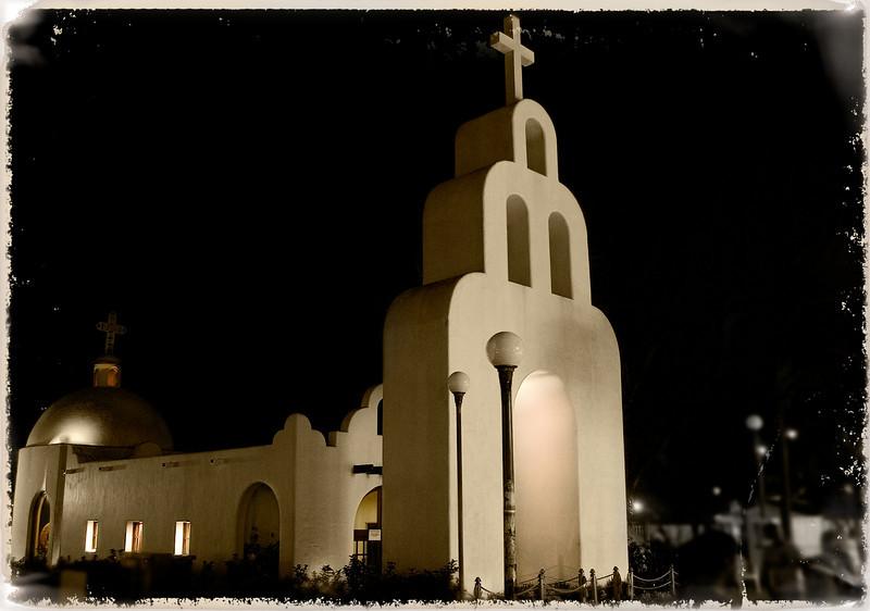 Church in downtown Playa del Carmen, Mexico.