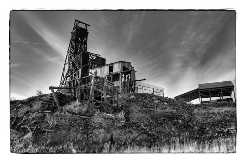 The remains of the Independence Gold Mine and sorting building in Victor, Colorado.