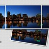 Portland Skyline<br /> A montage of the individual photos used to create the panorama version (in Portland gallery)