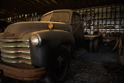 Old Tired Farm Truck