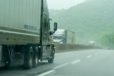 Rain Fog Trucks on PA Tnpk