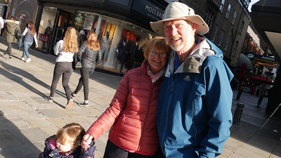 Brian and Bluebell on Northumberland Street, 26th October 2018