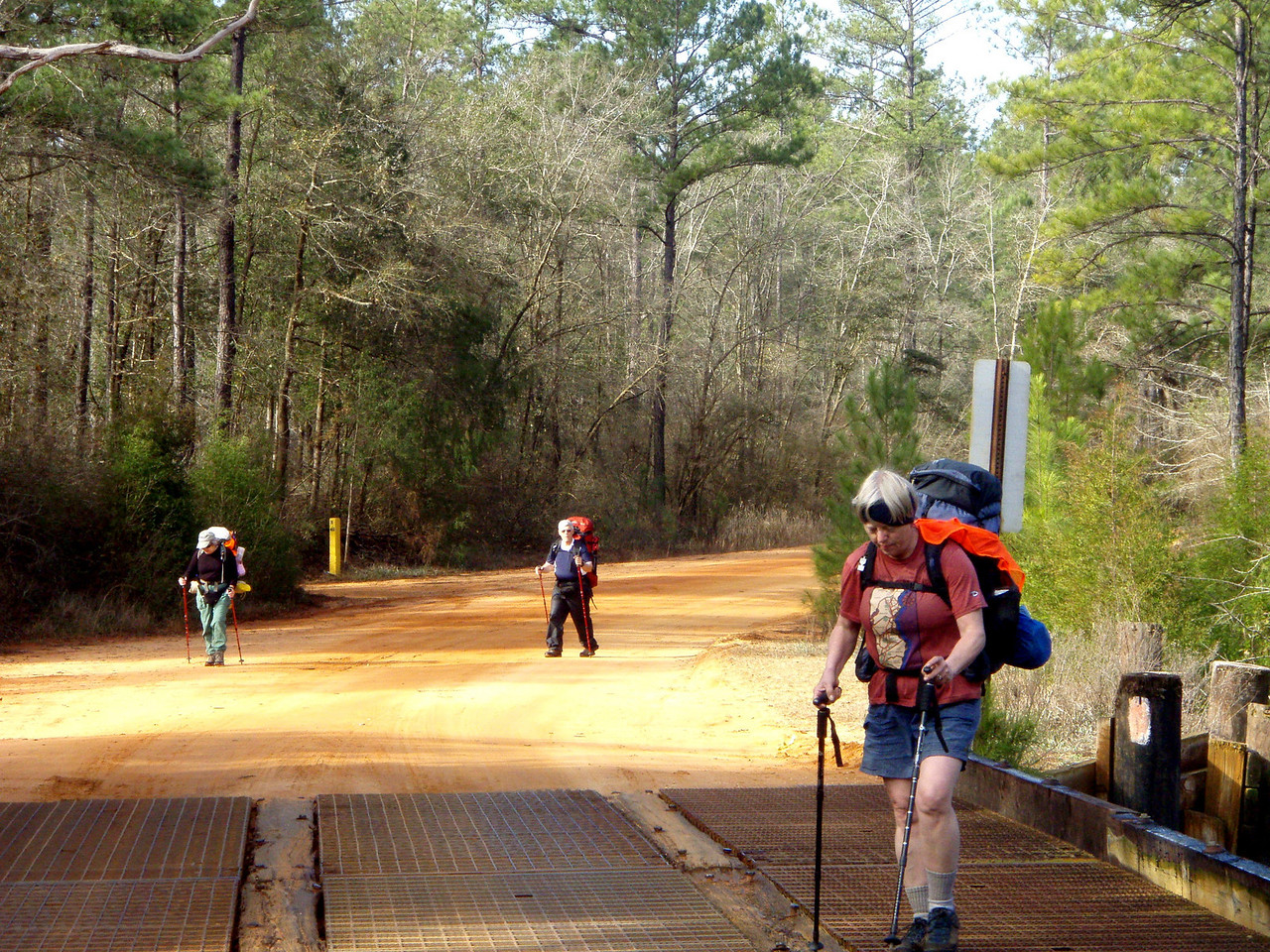 Bumpkin, Fire Ant, and Bluegill crossing the Blackwater River.