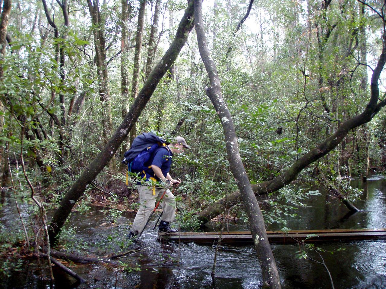 Jeff finds the bridge, too.