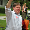 Republican Dan Carter at the Newtown Labor Day Parade. (Crevier photo)