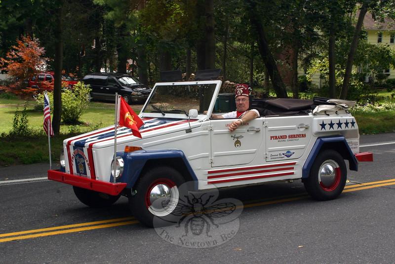 The lead car of the Pyramid Shriner Motor Patrol.  (Bee Photo, Hicks)