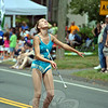 One of two Simsbury Spinners who appeared very early in this year's Newtown Labor Day Parade. (Crevier photo)