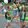 Parade marchers celebrated Girl Scouting's 100th birthday at this year's Newtown Labor Day Parade. (Crevier photo)