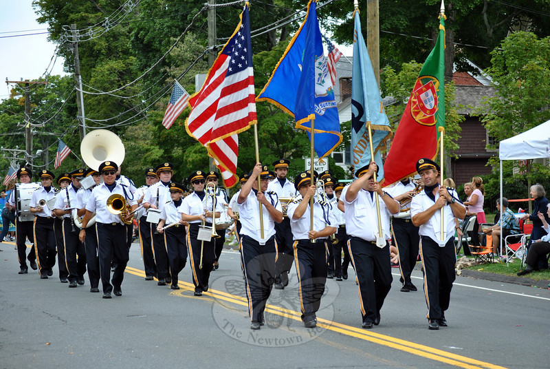 The Sons of Portugal Band at this year's Newtown Labor Day Parade. (Crevier photo)