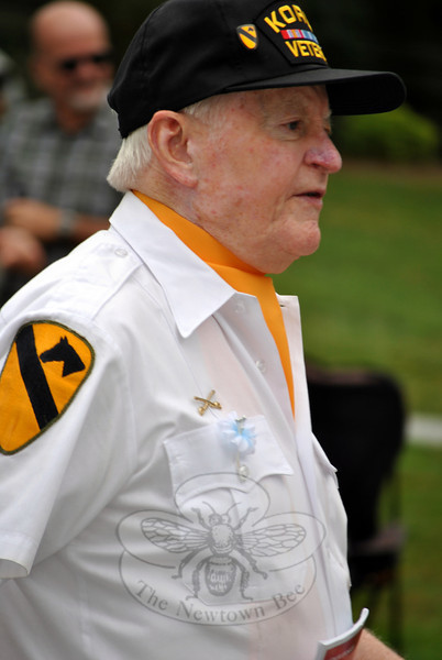 A Korean War veteran at this year's Newtown Labor Day Parade. (Crevier photo)