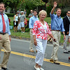 John McKinney, Pat Llodra, Richard Blumethal, and Nancy Wyman at this year's Newtown Labor Day Parade. (Crevier photo)