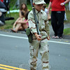 A young marcher at this year's Labor Day Parade. (Crevier photo)