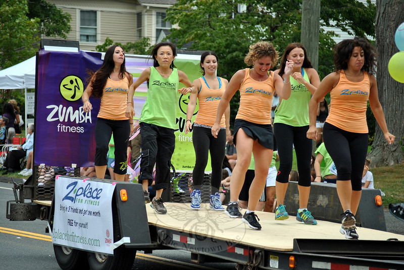 Z Place For Fitness won the award for Best Float at this year's Newtown Labor Day Parade. (Crevier photo)