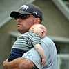 Brian Gioiele and 12 week old Matthew at Mathew's first Newtown Labor Day Parade. (Crevier photo)