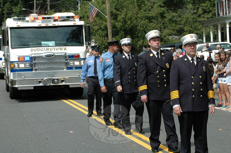 Dodgingtown Volunteer Fire Company, No 1, participated in this year's Newtown Labor Day Parade on Monday, September 3. (Gorosko photo)
