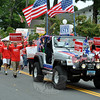 Democrat Chris Murphy's supporters at this year's Newtown Labor Day Parade. (Crevier photo)