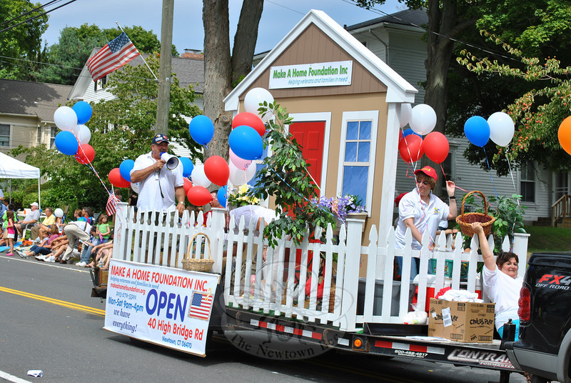 The Make A Home Foundation's float at this year's Newtown Labor Day Parade. (Crevier photo)