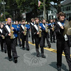 The Newtown High School Marching Band in this year's Newtown Labor Day Parade. (Gorosko photo)