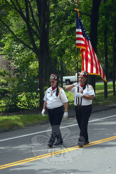 A pair of Shriners led the Pyramid Shriners Legion of Honor.  (Bee Photo, Hicks)