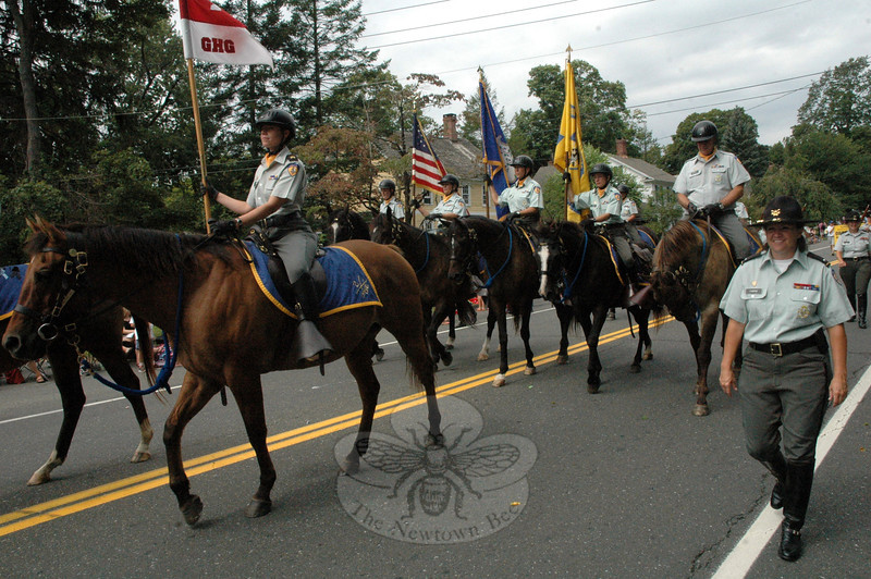 The Second Company Governor's Horse Guard was represented at this year's Newtown Labor Day Parade on Monday, September 3. (Gorosko photo)