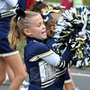 A Newtown cheerleader at this year's Labor Day Parade. (Crevier photo)