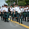 The Pyramid Shriners of Milford's Pipe and Drum at this year's Newtown Labor Day Parade. (Crevier photo)
