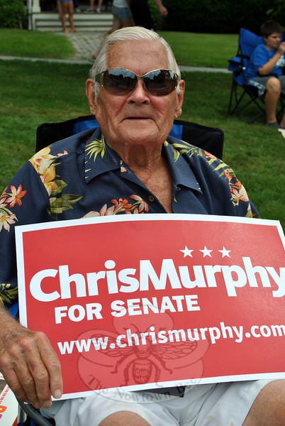 Chris Murphy supporter Hamilton Brosious. (Crevier photo)
