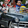 The Newtown Labor Day Parade included Disney characters from Blue Colony Diner. (Crevier photo)