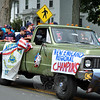 The Thunder Northeast Regional Champs at this year's Newtown Labor Day Parade. (Crevier photo)