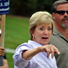 Republican Linda McMahon at this year's Newtown Labor Day Parade. (Crevier photo)