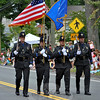 The Newtown Police Department's Honor Guard made its debut at this year's Newtown Labor Day Parade. (Crevier photo)