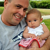 Brooklyn Butler, 3 month old, and dad Brain Butler at the Newtown Labor Day Parade. (Crevier photo)