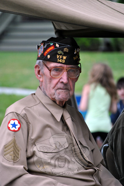 A VFW vet at this year's Newtown Labor Day Parade. (Crevier photo)