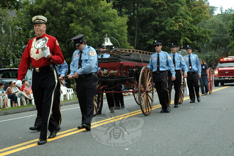 Newtown Hook & Ladder Co 1 participated in this year's Labor Day Parade on Monday, September 3. (Gorosko photo)