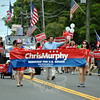 Democrat Chris Murphy and his supporters at this year's Newtown Labor Day Parade. (Crevier photo)