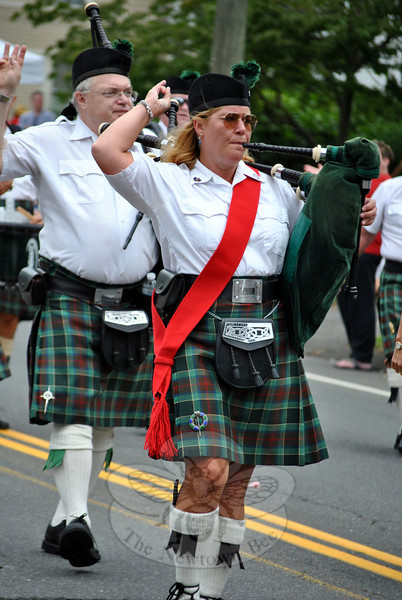 The Fairfield Gaelic Pipe Band at the Newtown Labor Day Parade. (Crevier photo)