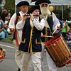 The Germantown Ancients were part of this year's Newtown Labor Day Parade. (Crevier photo)