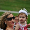 2012 Beautiful Baby winner Giavanna Dentice and mom Mary at this year's Newtown Labor Day Parade. (Crevier photo)